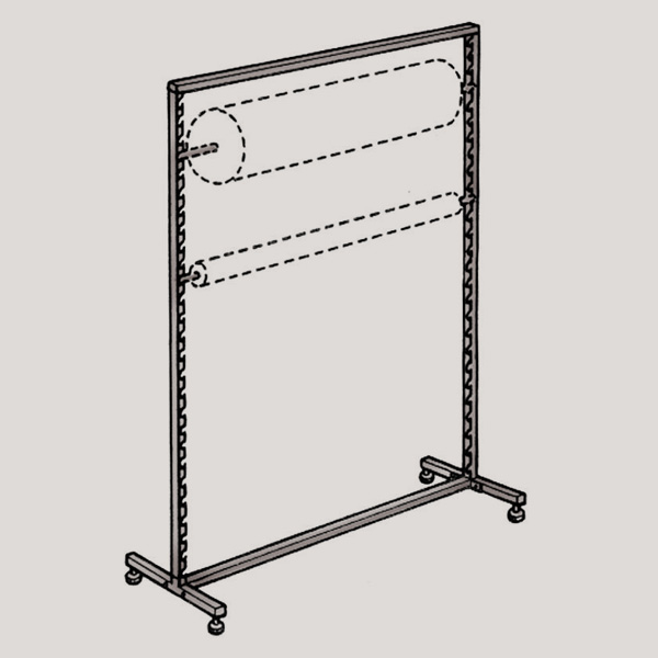 Gondola Display stand with levelers