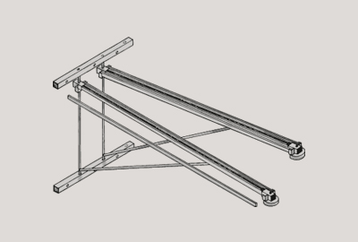 V-arm 120 with Clamping arm/without clamping arm